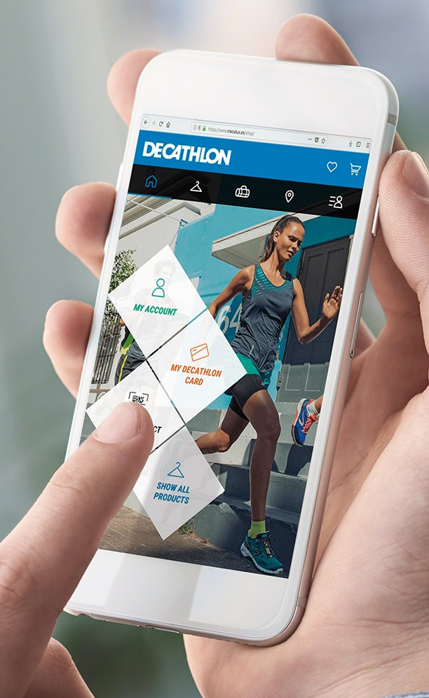 O armazém da Decathlon com estantes para picking no Reino Unido