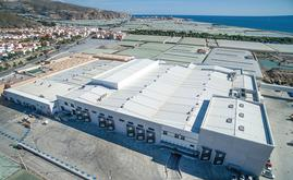 A imagem aérea do centro produtivo de Granada La Palma