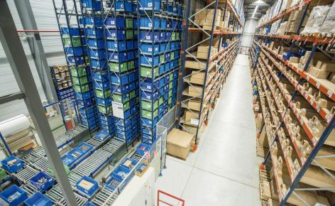 O armazém da Diager está capacitado para armazenar 7.200 caixas e mais de 1.800 paletes