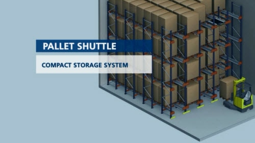 Pallet Shuttle: Armazenagem compacta semiautomática