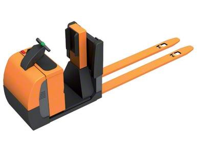 Selecionadora de pedidos a nível do chão com plataforma