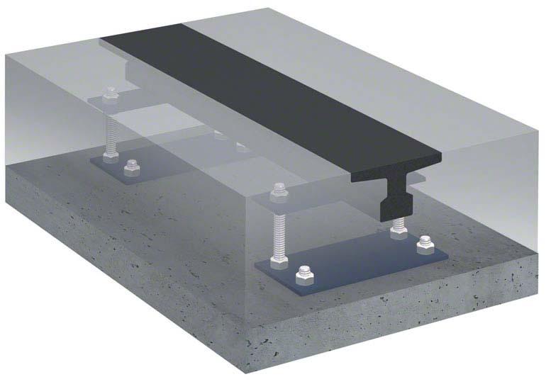 Trilho de rodagem de estantes móveis