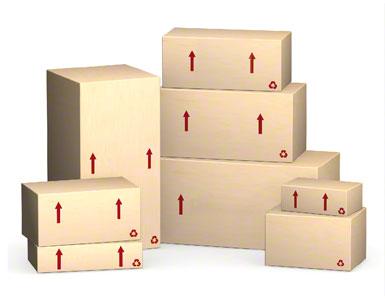A própria caixa de embalagem de como envia o fornecedor
