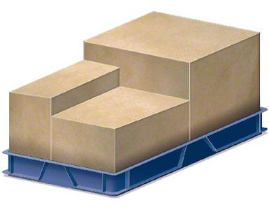 Um contêiner no qual vão introduzidas as caixas de embalagem enviadas pelo fornecedor.