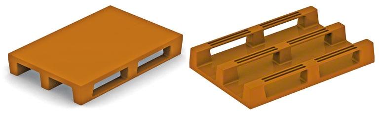 Estes paletes são semelhantes ao sistema de construção dos europaletes de madeira. Não há razões para apresentarem problemas, só se não forem suficientemente resistentes.