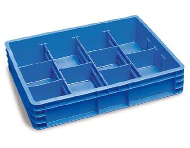 As caixas anteriores podem ser subdivididas para conter várias referências sem que se misturem