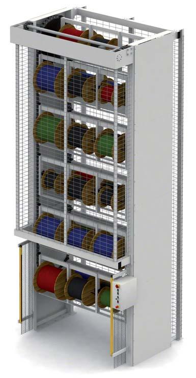 Sistema de armazenamento vertical automático para boninas.