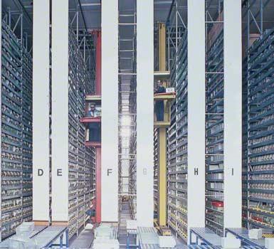 Armazém instalado para fabricante de componentes eletrônicos