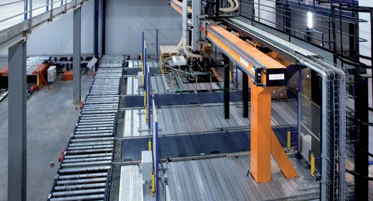 Imagem de um robô pórtico de dois eixos.