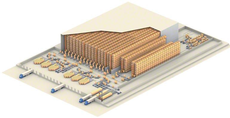 Exemplo de armazém central