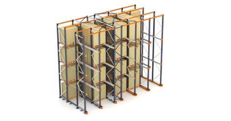 Estantes compactas: a armazenagem de paletes por acúmulo