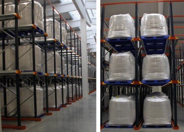 Südstärke armazena o amido em estantes compactas 'drive-in'