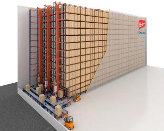 Os panetones da Bauducco no Brasil serão armazenados em um novo armazém automático autoportante