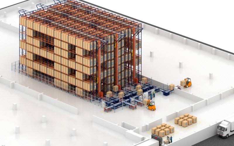 Capacidade de armazenagem e agilidade no novo armazém de biscoitos de Desobry