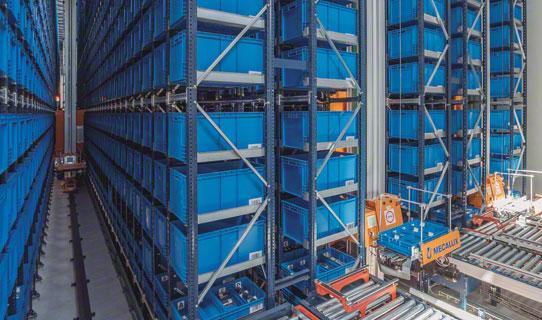 Armazéns automáticos para caixas