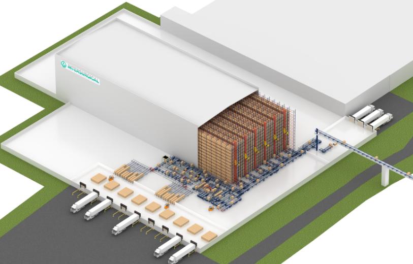 O armazém automático autoportante da Intersurgical na Lituânia