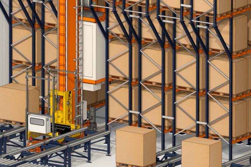 A Industrias Yuk construirá um armazém automático para paletes e caixas