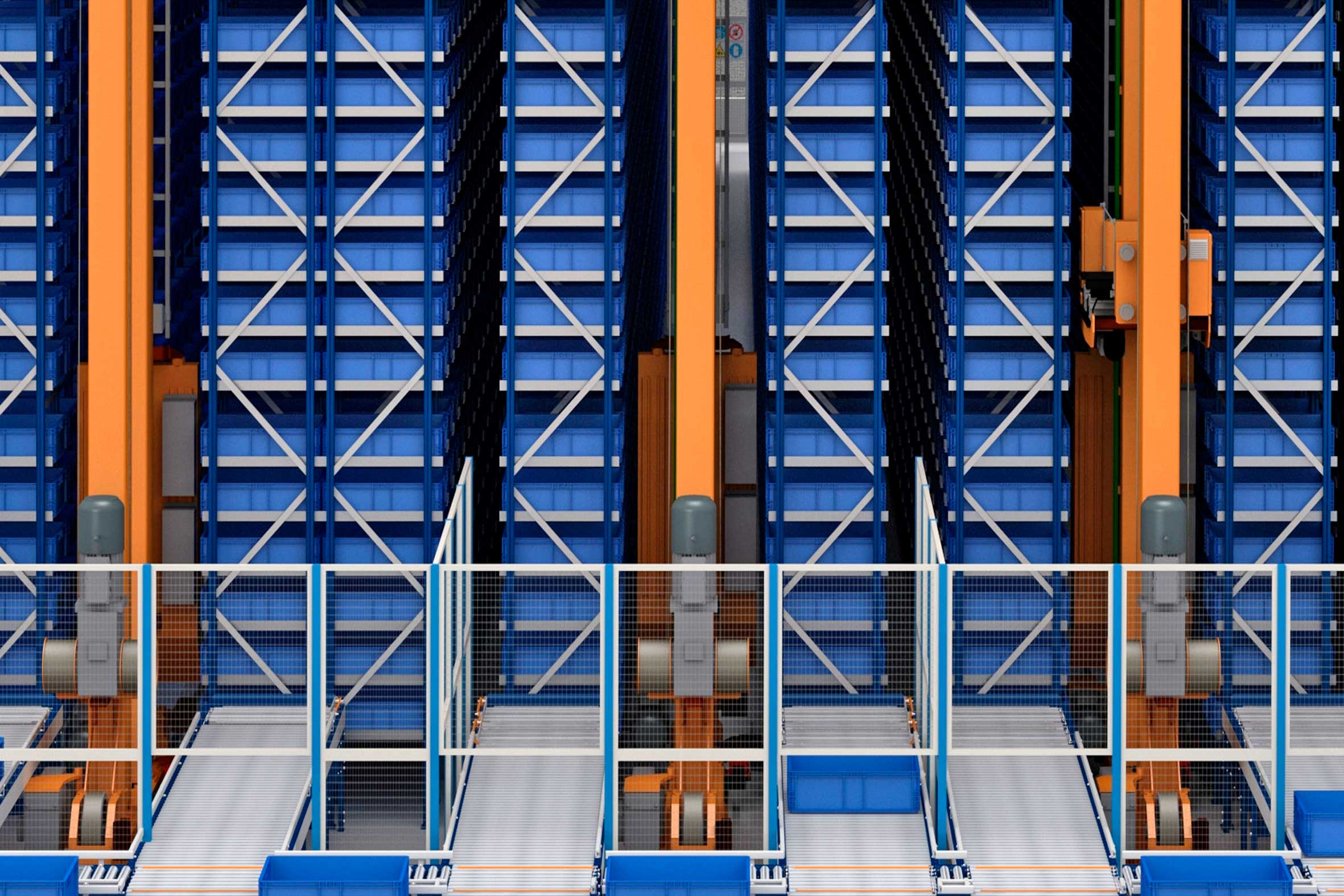 O armazém automático de caixas da empresa tecnológica NormaGrup