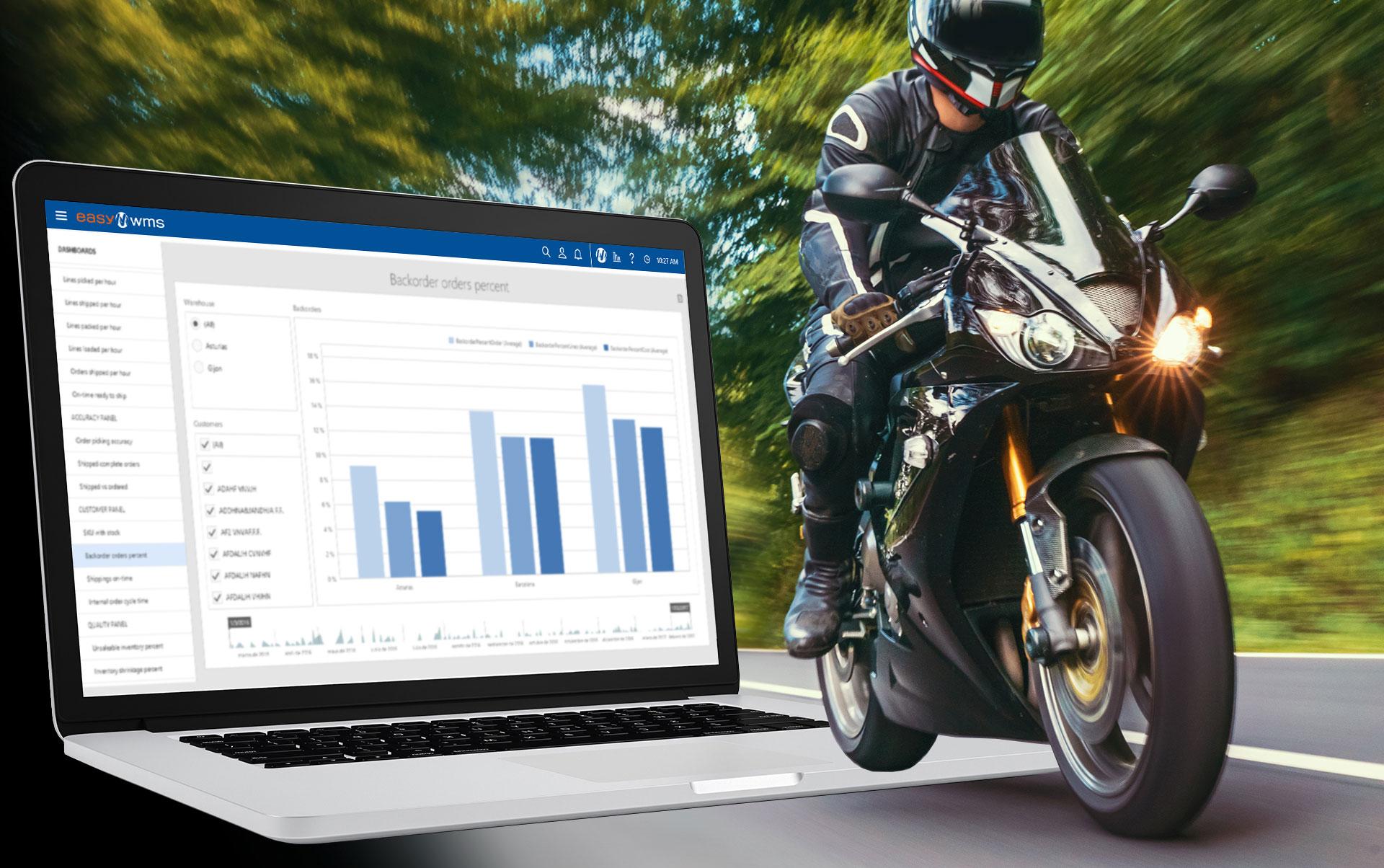 EPSA Moto vai automatizar o controle de estoque com Easy WMS da Mecalux