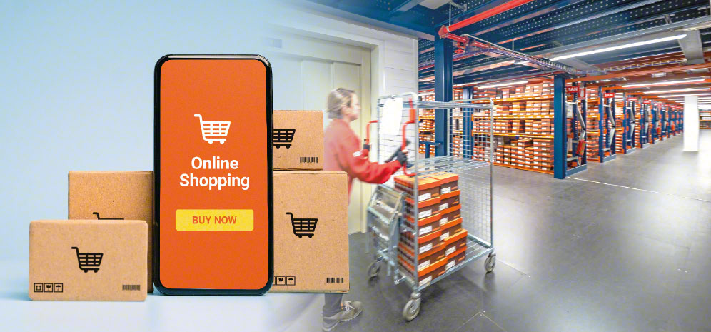 Uma infinidade de referências são gerenciadas em um armazém de e-commerce